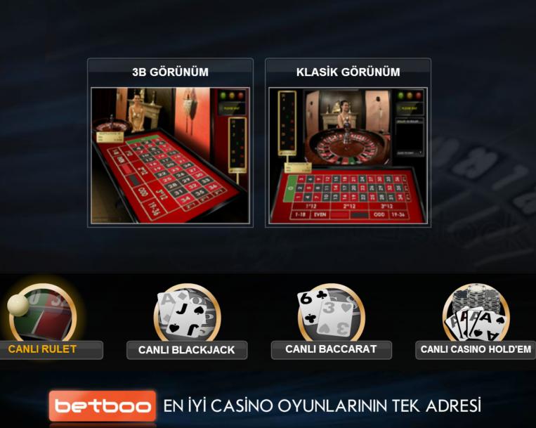 Betboo Canlı Casino Rulet Masası