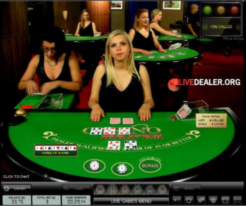 Youwin Canlı Casino Holdem Masası