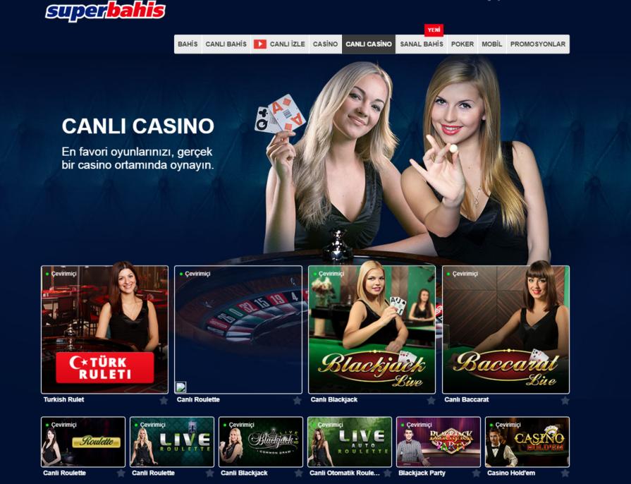 Superbahis canlı casino