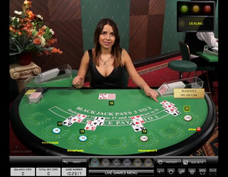 Youwin Canlı Blackjack Masası