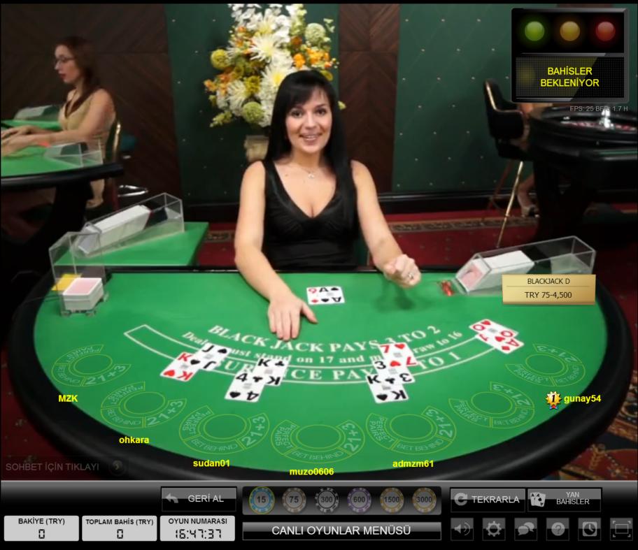 Hiperbet Canlı Casino Blackjack Masası