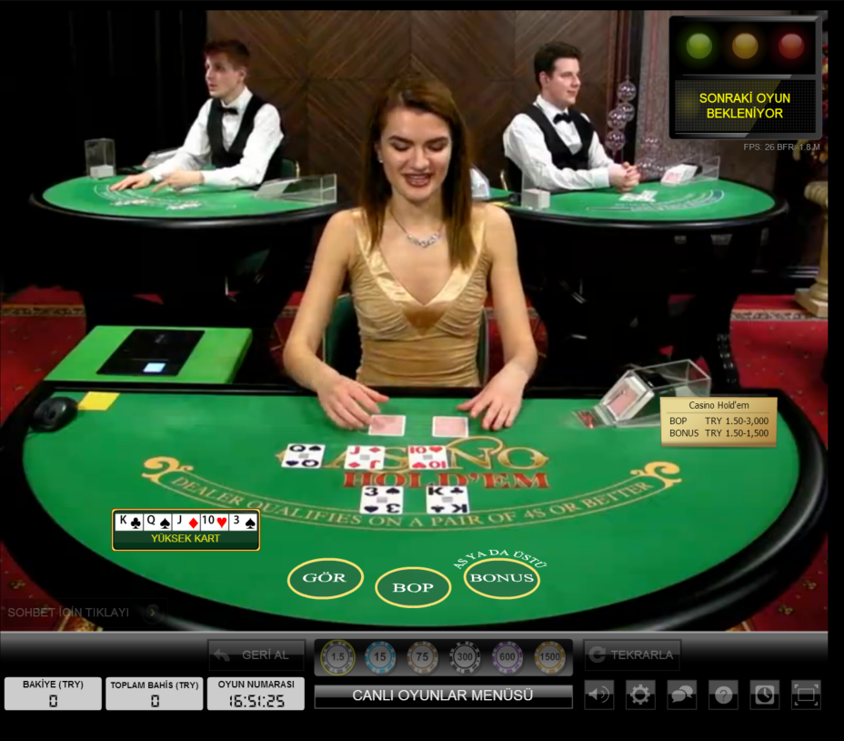Hiperbet Canlı Casino Holdem Masası