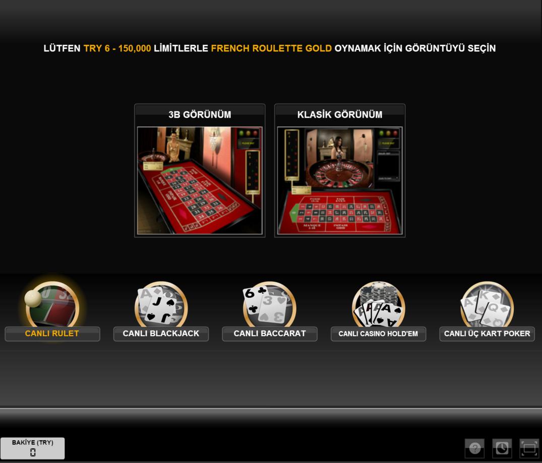 Hiperbet Canlı Casino Rulet Masası